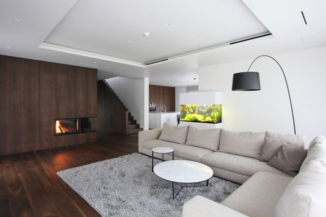 ... Of The House In Šiauliai Combines The Corridor, The Living Room And The  Kitchen. The Guest Room, Lavatory, Boiler Room And Garage Are Separately  Formed.