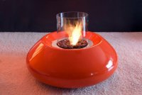 Bubble Fireplace with Orange Color