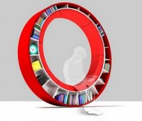Round-sofa-bookcase